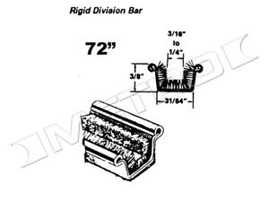 """Rigid Division-Bar Channel, 72"""" long, Fits:1933-1960 Buick, Cadillac and more"""