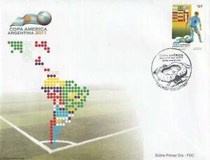 URUGUAY 15 JUNE 2011 COPA AMERICA COMMEMORATIVE STAMP FIRST DAY COVER SHS