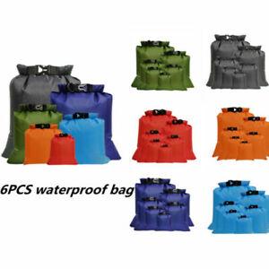 5/6stk Wasserdichter Packsack Aufbewahrungsbeutel Outdoor Beach Sack für Travel