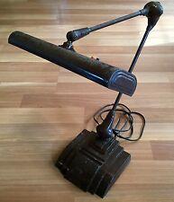 OLD VTG ART DECO FLEXO ARTICULATING SOLID METAL BASE ELECTRIC DESK LIGHT LAMP