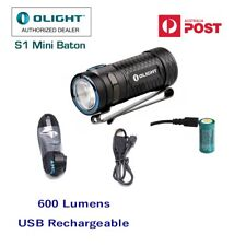 Olight S1 Mini Baton cool white 600 lumens EDC USB rechargeable LED pocket torch