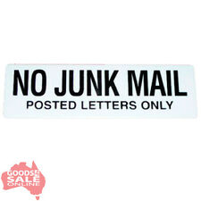 No Junk Mail - Mailbox Letterbox Sign 20x6cm