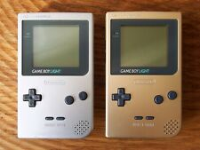 Nintendo Gameboy Light console (With backlight!) PRICE = PER CONSOLE / gb silver