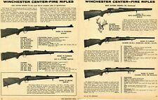 1971 3 Page Print Ad of Winchester Model 70 Rifle Varmint Magnum Deluxe African