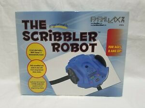 Parallax Programmable The Scribbler Robot 28136 Blue with Original Box STEM Toy