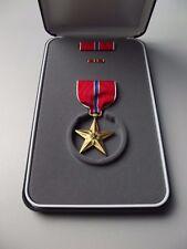 (a19-023) estrella de bronce us medalla en el estuche y caja 06 2003