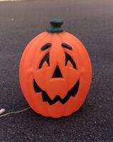 """Vtg Blow Mold Halloween Pumpkin Jack O Lantern General Foam Plastic 24"""" Minty"""