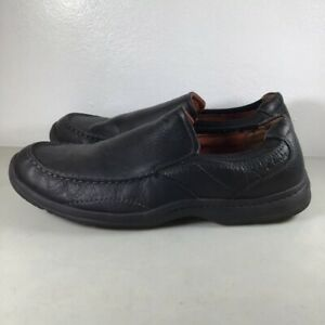Clarks The Niland Energy Men's Shoes Leather Loafers Slip-On Shoe Black Size 16