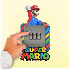 Super Mario Light Switch Surround Wall Sticker Plug Girls Boys Cover Decal