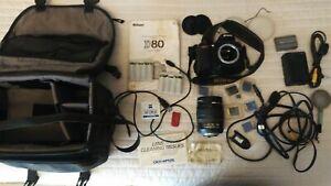 Nikon D D80 10.2MP Digital SLR Camera - Black (Kit w/ AF-S DX IF ED G 18-70mm...