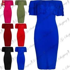 Polyester Dresses for Women with Ruffle Midi