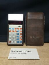 Vintage Unisonic 1548 Calculator Red Led Display, with Case and Instructions.
