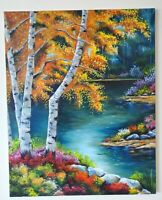 ORIGINAL OIL PAINTING ON CANVAS  ARTIST Landscape  30×40'  HANDPAINTED VINTAGE