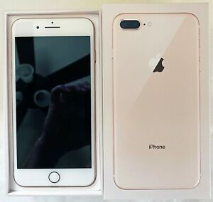 APPLE iPHONE 8 PLUS - 256GB - ROSE GOLD - FACTORY UNLOCKED / AT&T - EXCELLENT!