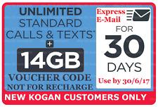 3x $50 Kogan Voucher 14GB Data Prepaid Mobile Starter + Link to Free SIM Cards