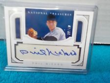 2016 Panini National Treasures Parchment Signature #ed 39/40 Phil Niekro #PS-PN