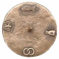 Taufkerzenleuchter 4 Symbole Bronze 12 cm  baptism candle holder