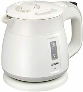 Tiger thermos (TIGER) Electric Kettle Wakuko 600ml white PCF-G060-W