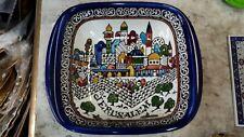 A square bowl .Jerusalem. Armenian Ceramic, Made in Israel. 18 x 12 cm