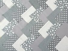 50 X 5 INCH SQUARES 100% COTTON PATCHWORK FABRIC CHARM PACK - GREY