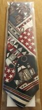 MENS QUALITY NECK TIE- STARS & STRIPES NOT HAND MADE SILK APPROX 56 IN 201