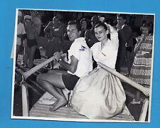 LUCIA BOSÉ L. M. DOMINGUÍN VENECIA 1956 FOTO DE PRENSA GELATINOBROMURO