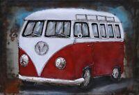 """VW CAMPER VAN  PICTURE CANVAS WALL ART 20""""X30"""""""