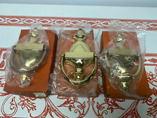 Lot Of 3 Vintage NOS Old Guilford Forge  Solid Brass Door Knockers