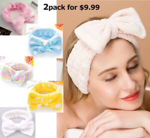 Bow Beauty Head Band Thick Makeup Shower Spa Hair Band