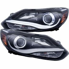 FOR 2012-2014 FORD FOCUS PROJECTOR PLANK STYLE HEADLIGHTS BLACK CLEAR PAIR LH+RH
