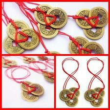2pc/set Chinese Feng Shui Coins For Wealth And Success Lucky Ching Brass Coins