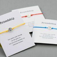 Life Tree Charm String Bracelet for Women Men Children Friendship Gift Quote