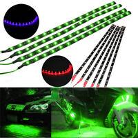 6Pcs Green 12''/15 12V Motor LED Strip Underbody Light For Car Motorcycle 15SMD