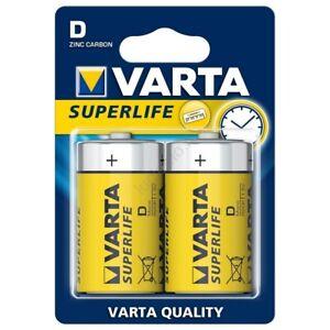 BATTERIA VARTA TORCIA SUPERLIFE ZINC-CARBON 1.5V R20