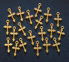 20 PIECES Cross Charms Pendants, Christian Jewelry Making Arts & Crafts Project
