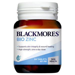 Blackmores Bio Zinc 84 Tablets Supports Healthy Skin Integrity Immune Function