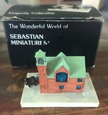 "Vintage 1986 Sebastian Miniatures ""Fire House� -in Box"