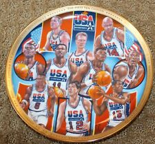 "FIRST TEN CHOSEN SPORTS IMPRESSIONS 1992 USA BASKETBALL 81/2"" GOLD EDITION PLATE"