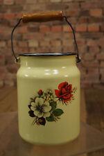 Vintage courriel Pot à lait cruche Seau émail pot à lait Utensilo 20 années 50