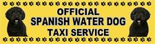 SPANISH WATER DOG OFFICIAL TAXI SERVICE Dog Car Sticker  By Starprint
