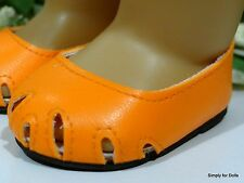 "ORANGE Peek-A-Boo LL Ballet Flats DOLL SHOES fits 18"" AMERICAN GIRL Doll Clothes"