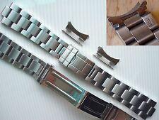 For Men Rolex Gmt-Master Explorer Watch 20mm Steel FlipLock Oyster Bracelet Band