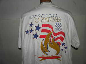 1996 Atlanta Summer Olympics Breakfast with the Olympians Vintage T-Shirt Sz XL