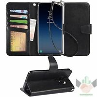Samsung Galaxy S9+ Plus Case Kickstand PU Leather Wallet 4 Slots ID Credit Cards
