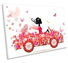 Fashion Floral Woman Car CANVAS WALL ART DECO LARGE READY TO HANG NIGHT all size