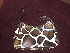 Dooney Burke brown/white giraffe shoulder handbag size medium. Great condition!