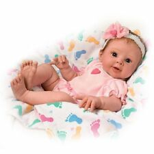 Ashton Drake - ELLA Realistic Touch-Activated Baby Girl Doll by Sherry Rawn