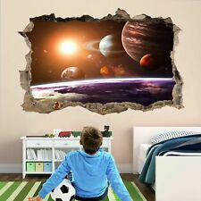 Planets Space Stars Astronomy 3D Wall Stickers Decal Poster Kids Room Decor AD37