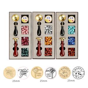 DIY Custom Stamps Wax Seal Box Kit Detachable Stamp Spoon Set Sealing Envel AU