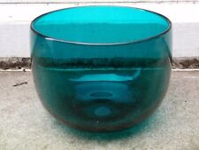 ANTIQUE 19TH C GREEN CRYSTAL GLASS WINE RINSER BOWL (A)